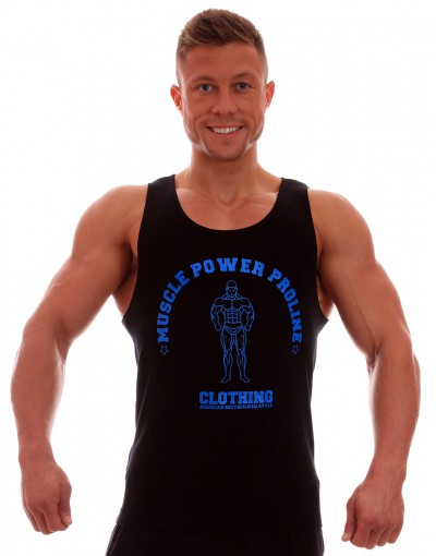 MPP Clothing Tank Top Full Back Black/Blue