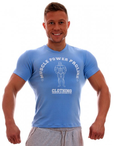 MPP T-shirt Muscle SkyBlue/White