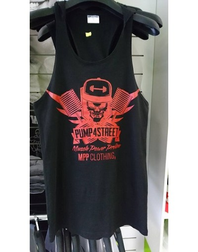 MPP Clothing Pump 4 Street Tank Top Black/Red